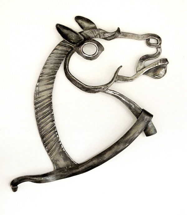 'Bucephalus Wall Relief Sculpture'. By Dimitri Gerakaris. Hand-forged Iron. 2010