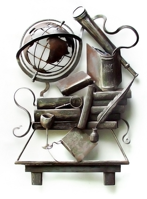 'Study Private Wall Relief Sculpture'. By Dimitri Gerakaris. Hand-forged Iron. 2002
